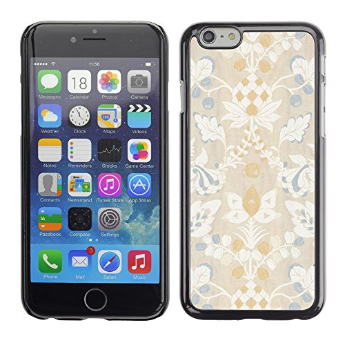Soft Silicone Rubber Case Hard Cover Protective Accessory Compatible with Apple iPhone? 6 (4.7 Inch) - blue white flower floral rustic vintage