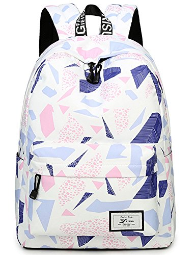 da4c8e428af Water Resistant School Backpack for Teens, Cute Geometry Laptop Bag Girls  Bookbag (Purple) - Buy Online in UAE.   bloomstar Products in the UAE - See  Prices ...