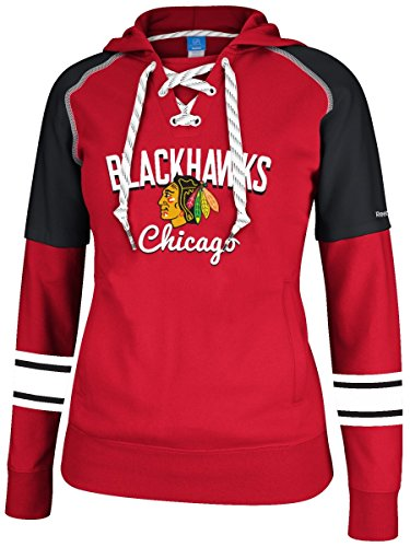 Chicago Blackhawks Women's NHL Reebok Core Pullover Hooded Sweatshirt