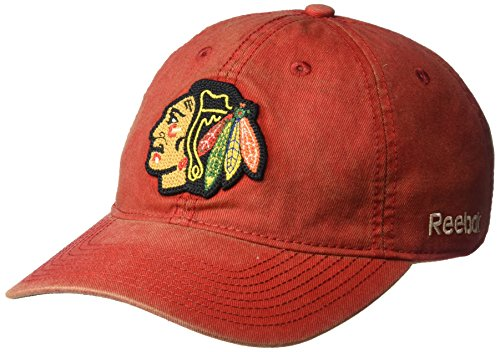 fan products of NHL Chicago Blackhawks Men's SP17 Vintage Slouch Adjustable Cap, Red, One Size