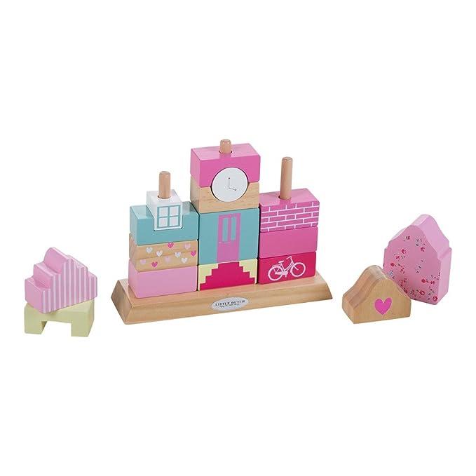 LITTLE DUTCH 4369 Holz Buchstaben Puzzle rosa