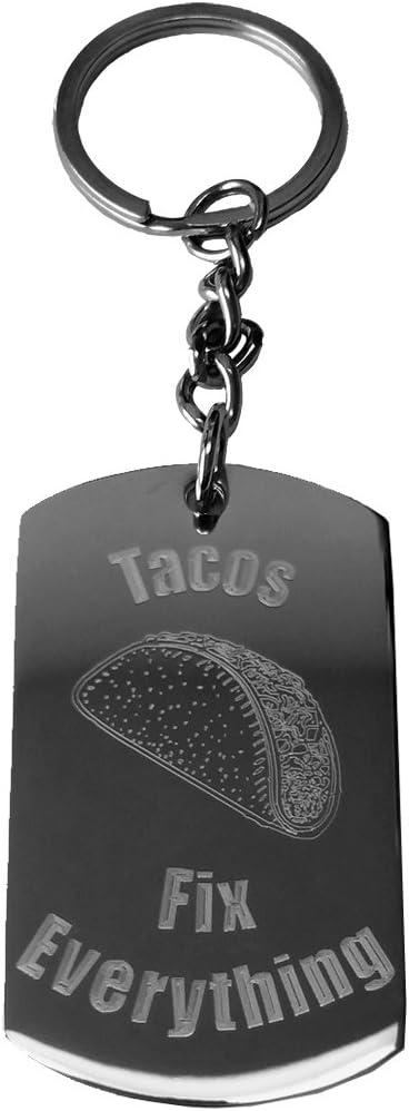 Amazon.com: Tacos arreglar todo – Anillo de metal clave ...