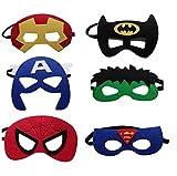 12 Pieces Superheroes Party Fun Cosplay Felt Masks For Boys Girls