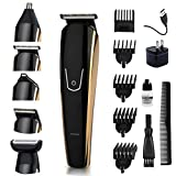 5 in 1 Men's Beard Trimmer Electric Cordless Nose Hair Trimmer...