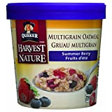 Quaker Instant Oatmeal Cups Summer Berry, 12-Count