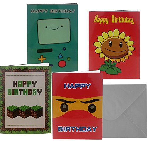 HAPPY BIRTHDAY!! Cute Boys Happy Birthday Cards, Set Of 8 Cards With Envelopes, + 1 Bonus Surprise Card and 3 Free Envelopes!