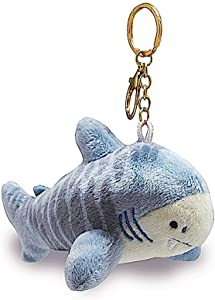 Welcome to the Islands Key Chain Plush Shark Blue 3.9 W x 2.5 inch H