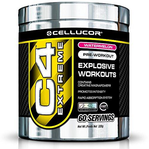 - Cellucor C4 Original Pre Workout Powder Energy Drink w/Creatine, Nitric Oxide & Beta Alanine, Watermelon, 60 Servings