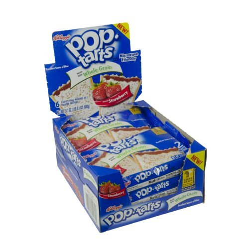 Kellogg's Whole Grain Frosted Pop-Tart, Strawberry, 21.1 Ounce (Pack of 72)