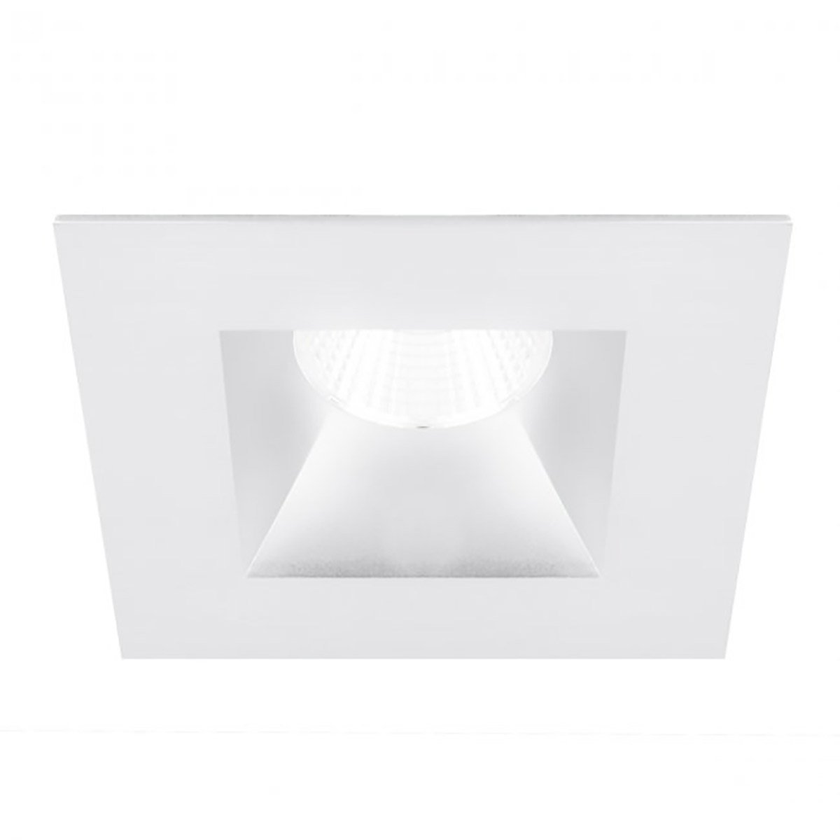 WAC Lighting R3BSD-S927-WT Oculux 3.5'' LED Square Open Reflector Trim Engine in White Finish; Spot Beam, 90+CRI and 2700K by WAC Lighting