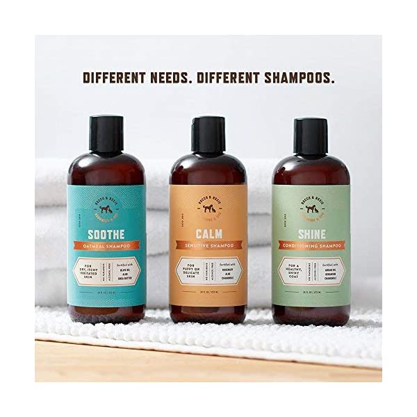 Rocco & Roxie Dog Shampoo Hypoallergenic for Sensitive Skin - Best for Delicate Puppy - Calming Rosemary, Aloe, Chamomile - Pet Allergy Wash Bath (32 oz) 5