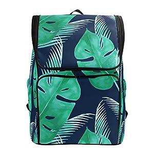 DXG1 Zaino Tropicale Verde Foglia Blu Navy Borsa Moda Borsa per Donne Uomini Ragazzo Ragazzo Bookbag Viaggio College… 12 spesavip