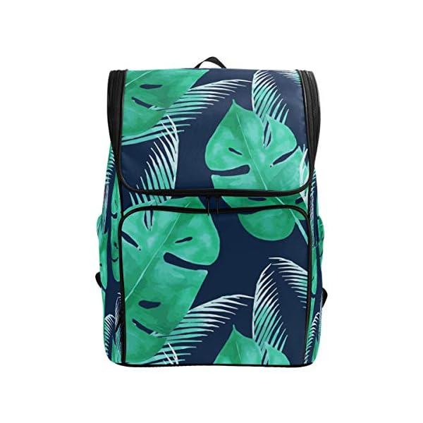 DXG1 Zaino Tropicale Verde Foglia Blu Navy Borsa Moda Borsa per Donne Uomini Ragazzo Ragazzo Bookbag Viaggio College… 1 spesavip