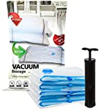 Alpha & Sigma 5 Vacuum Compression Storage Bags Medium Size (28 x 20 In) With Air Pump | Reusable, Ergonomic, Puncture Resistant & Waterproof | Organize Your Clothes, Optimize Suitcase Space, Enhance