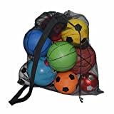Extra Large Soccer Ball Bag - Heavy Duty Mesh Equipment Bag Adjustable Shoulder Strap for Team Sports, Water Sports, Beach Toys, Swimming Gears