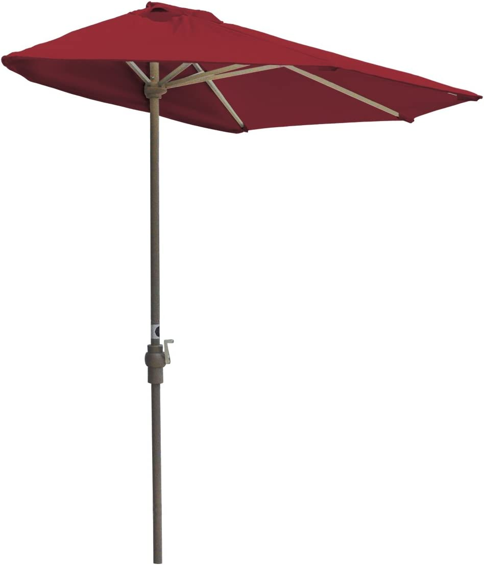 B001U6XB04 Blue Star Group Off-The-Wall Brella Sunbrella Half Umbrella, 9'-Width, Jockey Red 51r38hO0CXL