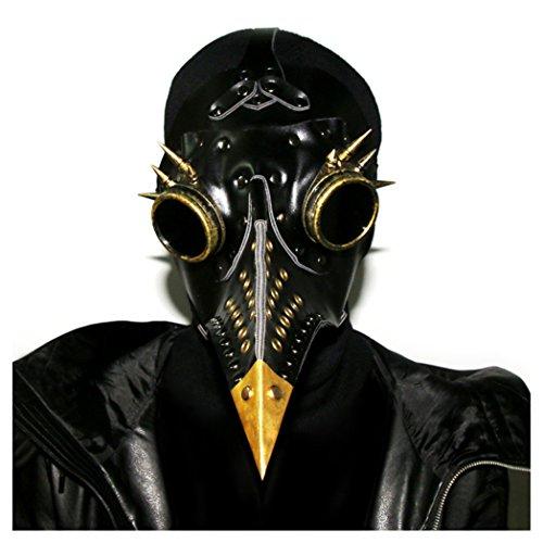 Hibiscus HIBIRETRO Steampunk Gothic Retro Plague Beak Doctor Bird Mask Halloween Christmas Costume Props 2018 -