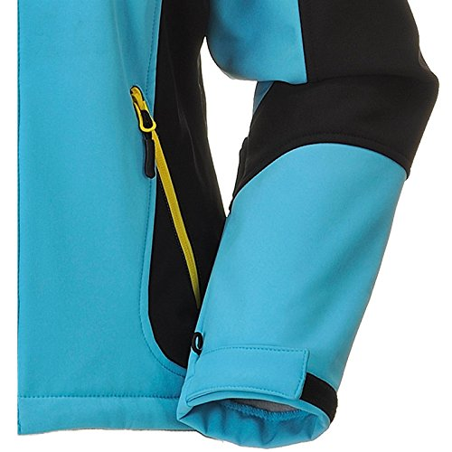 COX SWAIN WOMEN TITANIUM SOFTSHELL JACKET FOREST - 10.000mm waterproof - 5.000mm breathable Blue/Black