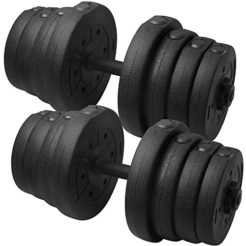 stable Dumbbell Bar Weight Set Gym Barbell Plates Muscle Body Training ()