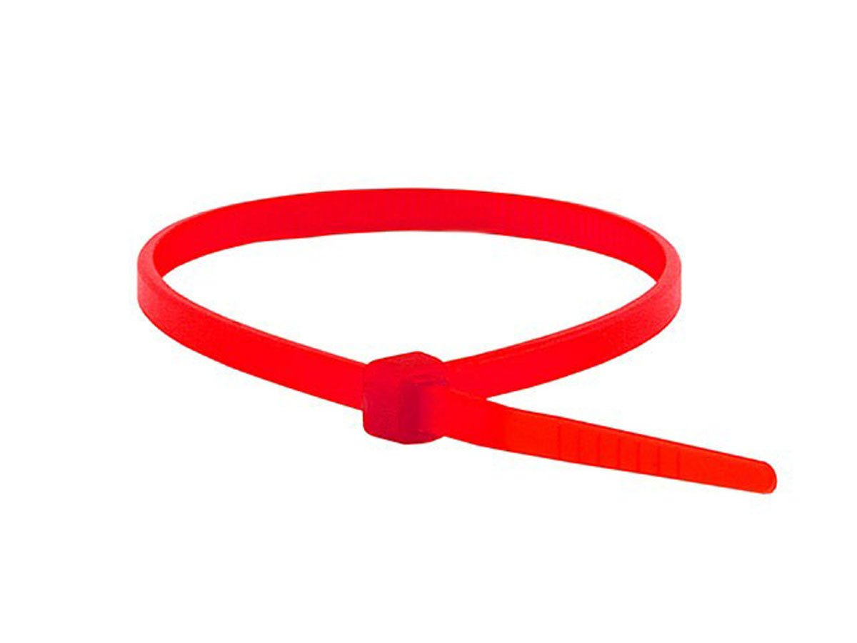 Monoprice Cable Tie 4 inch 18LBS, 100pcs/Pack - Red by Monoprice (Image #1)
