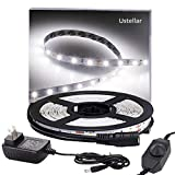 Tools & Hardware : Ustellar Dimmable LED Light Strip Kit, 300 Units SMD 2835 LEDs, 16.4ft/5m 12V LED Ribbon, 6000K Daylight White Under Cabinet Lighting Strips, Non-waterproof LED Tape, UL Listed Power Supply