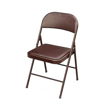 Super Amazon Com Ycsd Metal Steel Folding Chair With Pu Padded Theyellowbook Wood Chair Design Ideas Theyellowbookinfo