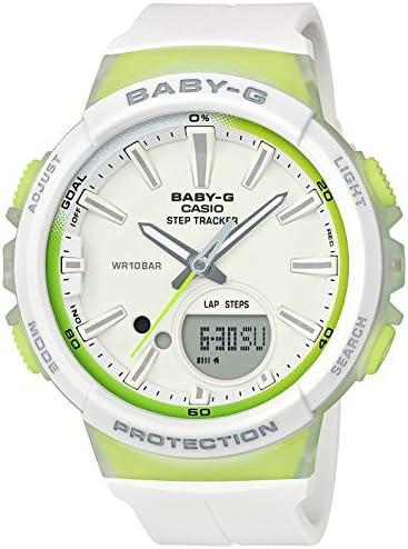 [カシオ] 腕時計 ベビージー FOR SPORTS 歩数計測 機能つき BGS-100-7A2JF レディース ホワイト