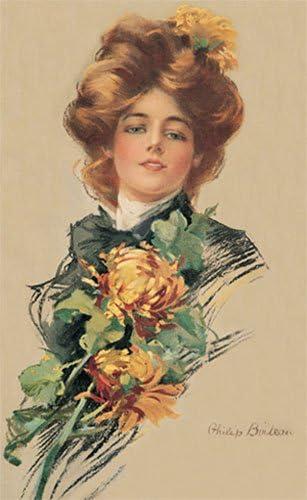 Woman in Black by Philip Boileau Art Print of Vintage Art