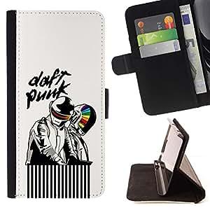 For Samsung Galaxy Core Prime / SM-G360 Case , Artistas Daft- la tarjeta de Crédito Slots PU Funda de cuero Monedero caso cubierta de piel