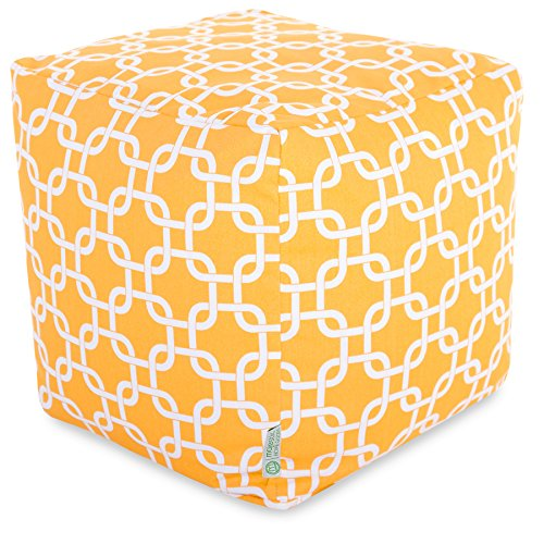 - Majestic Home Goods Yellow Links Cube, Small