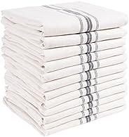 "KAF Home Classic Farmhouse Stripe Kitchen Towels   Set of 12, 15"" x 25"", 100% Pure Cotton Dish Towel"