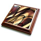 "3dRose trv_4062_1 Digital Artwork Design Trivet with Ceramic Tile, 8 by 8"", Brown"