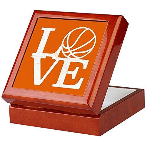 (CafePress - Love Basketball - Keepsake Box, Finished Hardwood Jewelry Box, Velvet Lined Memento)