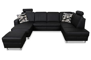 Sofa Couch Ada Alina Leder Wohnlandschaft 7427 Mit Schlaffunktion