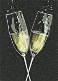 Avanti Champagne Flutes A-Press Anniversary Card
