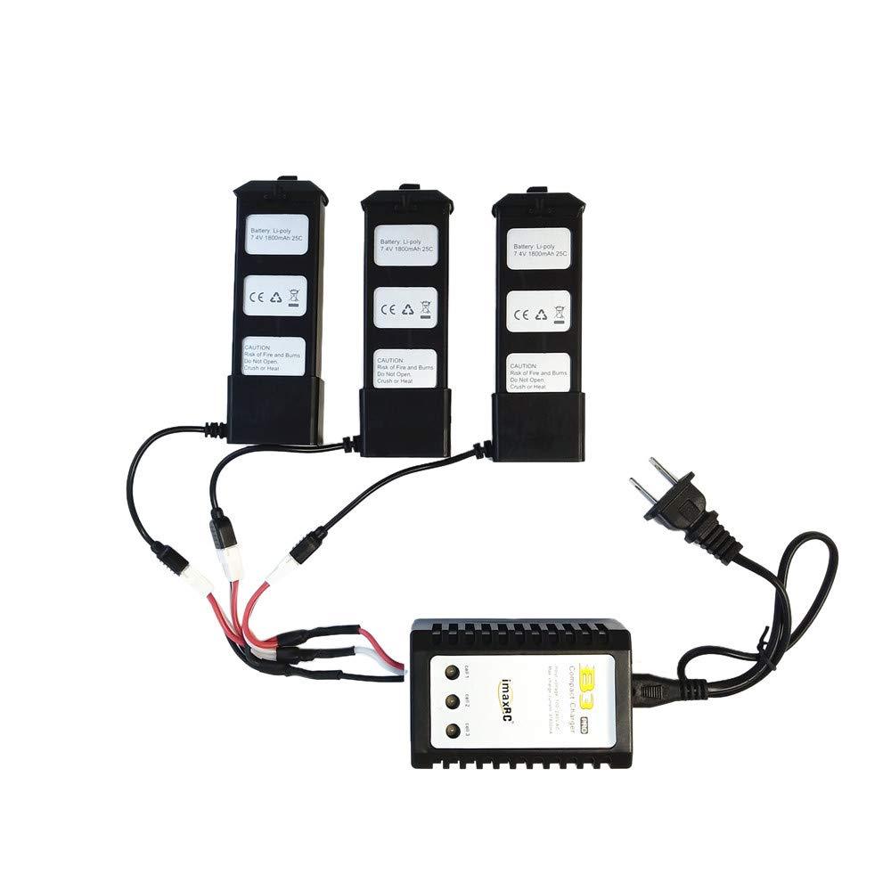 TwoCC Adaptador de cable de carga 3 en 1 para batería de ...