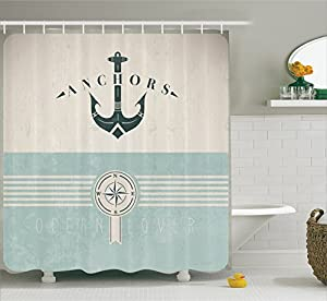 Ocean decor shower curtain by ambesonne for Anchor decoration runescape