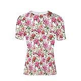 T-Shirt for Men,Green Leaves Exotic Gentle Bouquet Bridal Wedding,3D Print