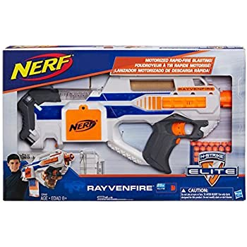 amazon com nerf exclusive n strike elite rayvenfire motorized rapid