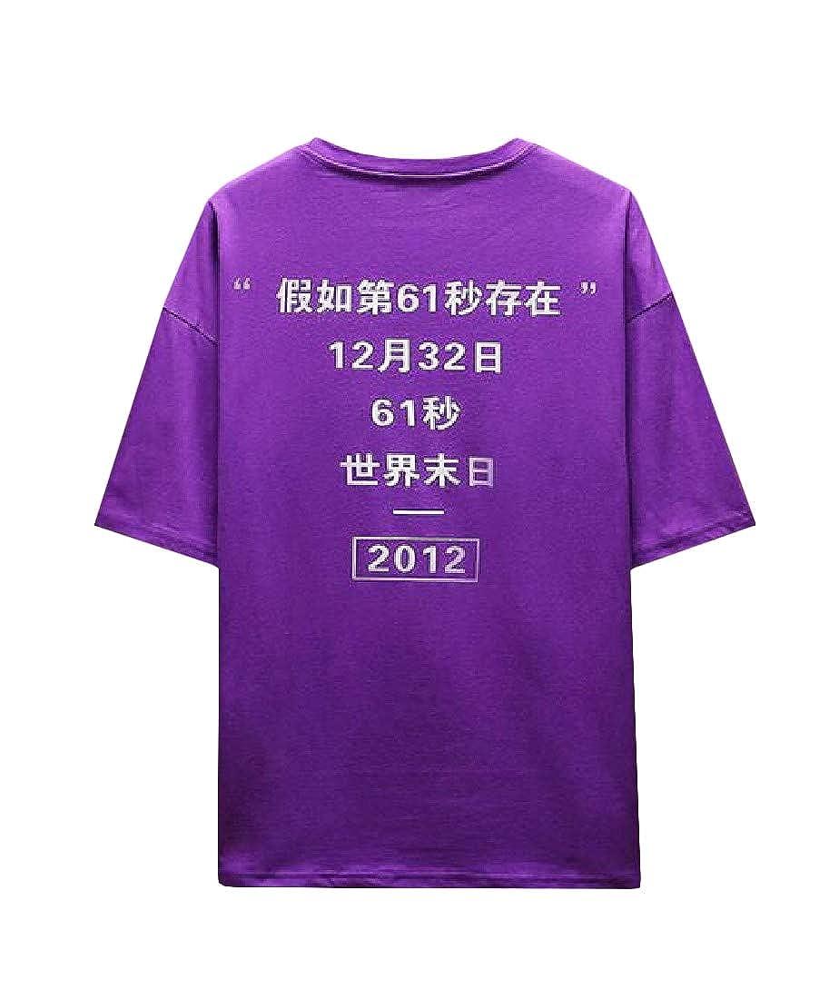 Etecredpow Mens Pure Color Slim Short Sleeve Top Tee T-Shirt