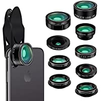 Phone Camera Lens Kit,9 in 1 Kaiess Super Wide Angle+...