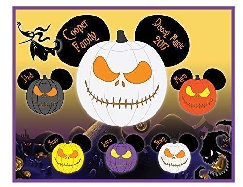 (8 x 10 MAGNET SIGN Nightmare Halloween Jack Skellington Mouse Head Family Magnet for Disney Cruise - IMAGES ARE NOT MEANT TO BE CUT)