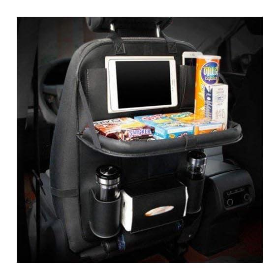 KINZILLA Leather Car Organizer for The Back seat (Black, 60x 43 cm)