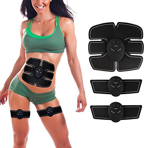 ABS Trainer Waist Toner Ab Simulator Belt EMS Muscle Exerciser for Women and Men Unisex Fitness Fat Burner For Abdomen/Arm/Leg Wireless and Portable