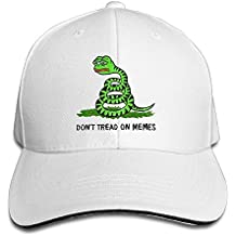 jia87 Men Sandwich Cool Trucker Hat Pepe Frog Don't Tread On Memes