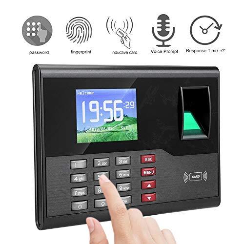 Fingerprint Attendance Machine, AC121 TCP/IP Biometric Fingerprint Employee Time Clock Machine Attendance Recorder Employee Payroll Recorder Machine(US Plug)