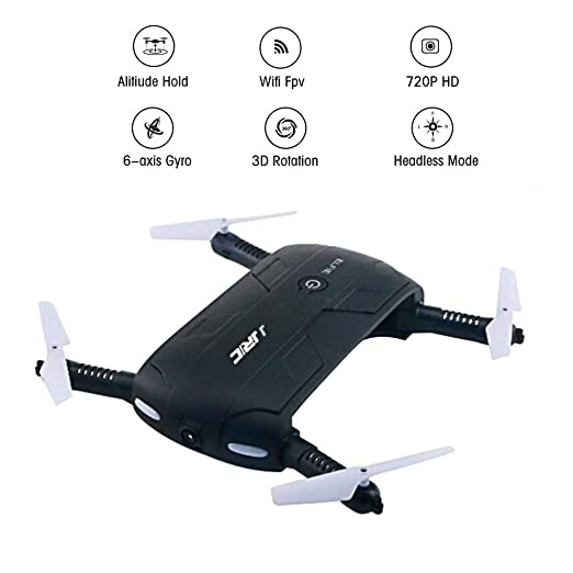 Eulan Altitude Foldable Pocket Selfie Quadcopter Drone with 2MP ...