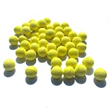 50 Rounds Foam Bullet Balls for Nerf Rival Apollo ,Zeus,Khaos, Atlas, & Artemis Blaster Compatible Ammo Round Refill Pack Guns Blasters Toy (yellow)