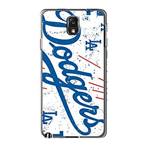 LeoSwiech Samsung Galaxy Note 3 Shockproof Hard Cell-phone Case Provide Private Custom Lifelike Los Angeles Dodgers Series [dAk10182RdmD]