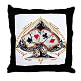 Throw Pillow Four of a Kind Poker Spade